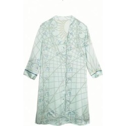 Silk Shirt Dress - Blue - Pink House Mustique Dresses found on Bargain Bro from lyst.com for USD $420.28