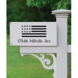 Personalized Planet Mailboxes - Black Flag & Address Personalized Mailbox Decal found on Bargain Bro Philippines from zulily.com for $13.99
