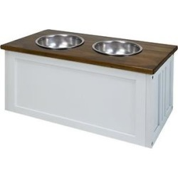 Casual Home Elevated Dog Bowls & Storage Stand found on Bargain Bro Philippines from Chewy.com for $75.62