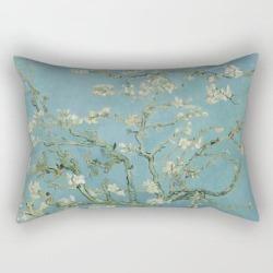 Rectangular Pillow   Almond Blossom by Vincent Van Gogh - Small (17