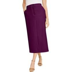 Plus Size Women's Tummy Control Bi-Stretch Midi Skirt by Jessica London in Dark Berry (Size 14 W) found on Bargain Bro Philippines from Ellos for $44.99