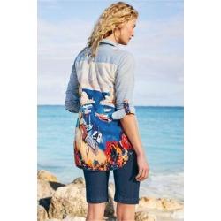 Women's Ammabella Shirt by Soft Surroundings, in Light Denim size XS (2-4)