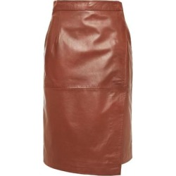Leather Wrap Skirt - Brown - Muubaa Skirts found on MODAPINS from lyst.com for USD $212.00