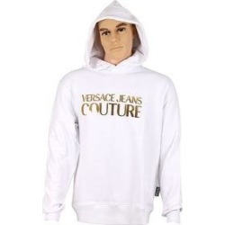 petite Versace Jeans Couture Pure Cotton Gold Foil Logo Long Sleeve Hoodie Sweatshirt- (L), Men's, White found on Bargain Bro from Overstock for USD $154.27
