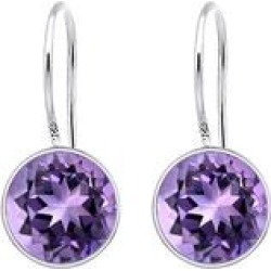 Orchid Jewelry Women's Earrings Purple - 6.5 carat Amethyst & Sterling Silver Round-Cut Drop Earrings found on Bargain Bro India from zulily.com for $19.99