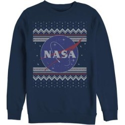 Fifth Sun Men's Pullover Sweaters NAVY - NASA Navy Sweater Crewneck Sweatshirt - Men found on Bargain Bro from zulily.com for USD $21.27