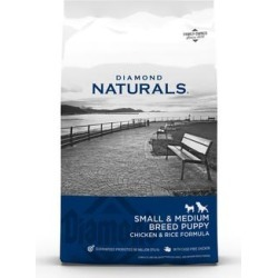 Diamond Naturals Small Breed Chicken and Rice Flavor Dry Puppy Food, 18 lbs.