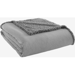 Micro Flannel Reverse to Sherpa Blanket by Shavel Home Products in Greystone (Size FL/QUE)