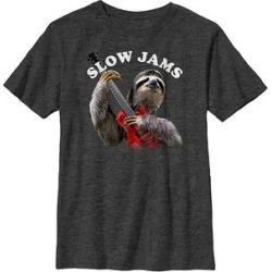 Fifth Sun Boys' Tee Shirts CHAR - Charcoal Heather 'Slow Jams' Sloth Tee - Boys found on Bargain Bro Philippines from zulily.com for $9.99