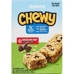 Quaker Oats Bars - 58-Ct. Chocolate Chip Chewy Bar Set found on Bargain Bro Philippines from zulily.com for $12.39