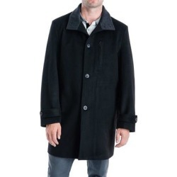 London Fog Mens Clark Top Coat Button-Front Stand-Collar found on Bargain Bro Philippines from Overstock for $79.99