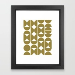 Framed Art Print | Mid Century Modern Geometric 04 Flat Gold by The Old Art Studio - Vector Black - X-Small-10x12 - Society6 found on Bargain Bro India from Society6 for $37.59