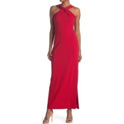 Sleeveless Twisted Neck Gown - Red - Bebe Dresses found on Bargain Bro India from lyst.com for $56.00