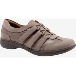 Women's Joy Sneaker by Trotters in Taupe (Size 7 M) found on Bargain Bro India from Woman Within for $84.99