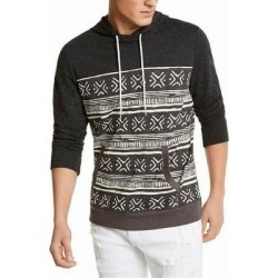 Sun + Stone Mens Hoodie Charcoal Heather Gray Size XL Slub Knit Tribal (XL), Men's found on MODAPINS from Overstock for USD $16.19