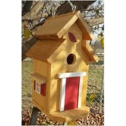 Bird Houses by Mark Cedar Cottage Bird House, Red found on Bargain Bro from Chewy.com for USD $18.57