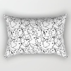 Rectangular Pillow | Oh Chihuahua by Huebucket - Small (17