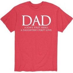 Instant Message Mens Men's Tee Shirts HEATHER - Heather Red 'Dad' Definition Tee - Men
