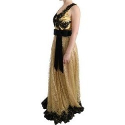 Dolce & Gabbana Gold Black Floral Lace Women's Dress - it42-m (Gold - it42-m) found on Bargain Bro India from Overstock for $4170.50