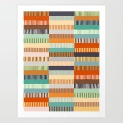 Art Print | Fall Grandmother's Quilt I by Alisa Galitsyna - X-Small - Society6 found on Bargain Bro India from Society6 for $20.79