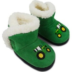 John Deere Slippers GREEN - John Deere Green Tractor Fuzzy Boot - Kids found on Bargain Bro Philippines from zulily.com for $10.99