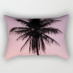 "Summer Palms Rectangular Pillow by Created By Kat Co - Small (17"" x 12"")"