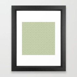 Framed Art Print   Elegant Green Mid Century Modern Geometry Pattern by Anutu Studio Designs - Vector Black - X-Small-10x12 - Society6 found on Bargain Bro from Society6 for USD $24.46