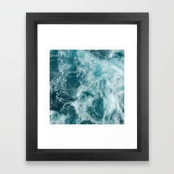 Framed Art Print | Sea by Vickn - Vector Black - X-Small-10x12 - Society6 found on Bargain Bro India from Society6 for $36.79