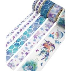 Wrapables Washi Tape - Cool Aquatic Decorative Washi Tape Set