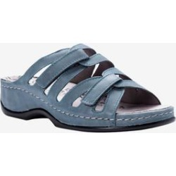 Extra Wide Width Women's Kylie Sandal by Propet in Denim (Size 9 1/2 WW) found on Bargain Bro Philippines from Woman Within for $94.99