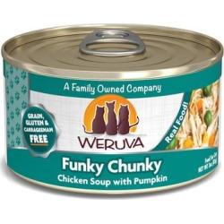 Weruva Classics Funky Chunky Chicken Soup with Pumpkin Wet Cat Food, 3 oz.