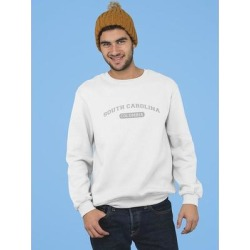 Columbia, South Carolina Text Men's Sweatshirt (XL), White(cotton) found on MODAPINS from Overstock for USD $24.99