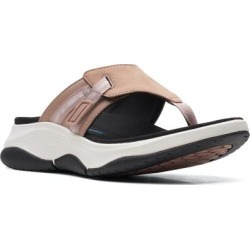 Clarks Wave 2.0 Sea Flip Flop - Pink - Clarks Flats found on Bargain Bro India from lyst.com for $100.00