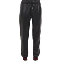 Leather Track Pants - Black - Muubaa Pants found on MODAPINS from lyst.com for USD $227.00