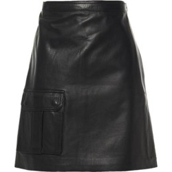 Leather Mini Wrap Skirt - Black - Muubaa Skirts found on MODAPINS from lyst.com for USD $178.00
