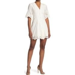 Una Eyelet Lace Mini Dress - White - AllSaints Dresses found on Bargain Bro India from lyst.com for $115.00