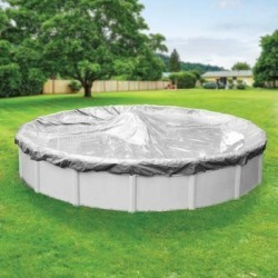 Pool Mate Platinum Silver Winter Cover for Round Above-Ground Swimming Pools found on Bargain Bro Philippines from Overstock for $121.12