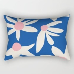 Rectangular Pillow | Blue Garden by Grace - Small (17