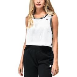 Champion Women's Reversible Mesh Cropped Tank Top White Size Extra Small - X-Small found on Bargain Bro from Overstock for USD $7.51