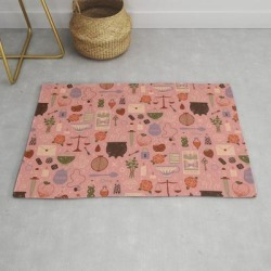 Love Potion Modern Throw Rug by Camille Chew - 2' x 3'