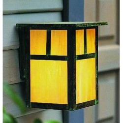 Arroyo Craftsman Mission 9 Inch Tall 1 Light Outdoor Wall Light - MW-7T-GW-RC found on Bargain Bro from Capitol Lighting for USD $135.28
