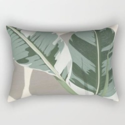 Rectangular Pillow | Banana Leaves by City Art - Small (17