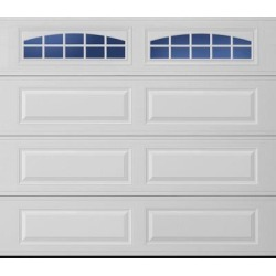Lincoln 2000 Long Panel Garage Door - White 9 x 8 Cascade Window found on Bargain Bro from samsclub.com for USD $829.92