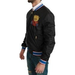 Dolce & Gabbana Black YEAR OF THE PIG Bomber Men's Jacket (it48-m)(nylon) found on Bargain Bro India from Overstock for $570.00