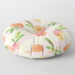 Floor Pillow | Peaches Pattern by Modern Home Design - ROUND - 30