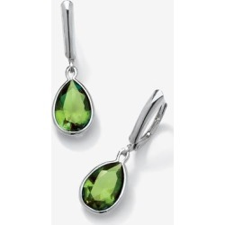 Women's Sterling Silver Drop Earrings Pear Cut Simulated Birthstones by PalmBeach Jewelry in August found on Bargain Bro Philippines from Ellos for $29.99
