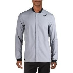 Asics Mens Athletic Jacket Fitness Workout (Grey - 2XL), Men's, Gray(polyester) found on MODAPINS from Overstock for USD $25.34