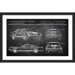 Marmont Hill - Handmade Mustang Shelby Design Framed Print found on Bargain Bro Philippines from Overstock for $161.99