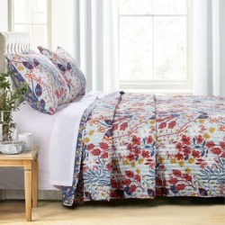 Perry Quilt Set by Greenland Home Fashions in Multi (Size KING)