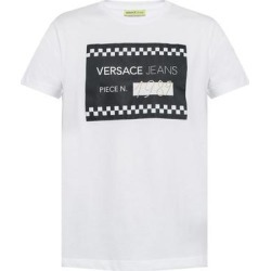 petite Versace Jeans Mens White Logo 1989 TShirt (L), Men's found on Bargain Bro from Overstock for USD $75.99